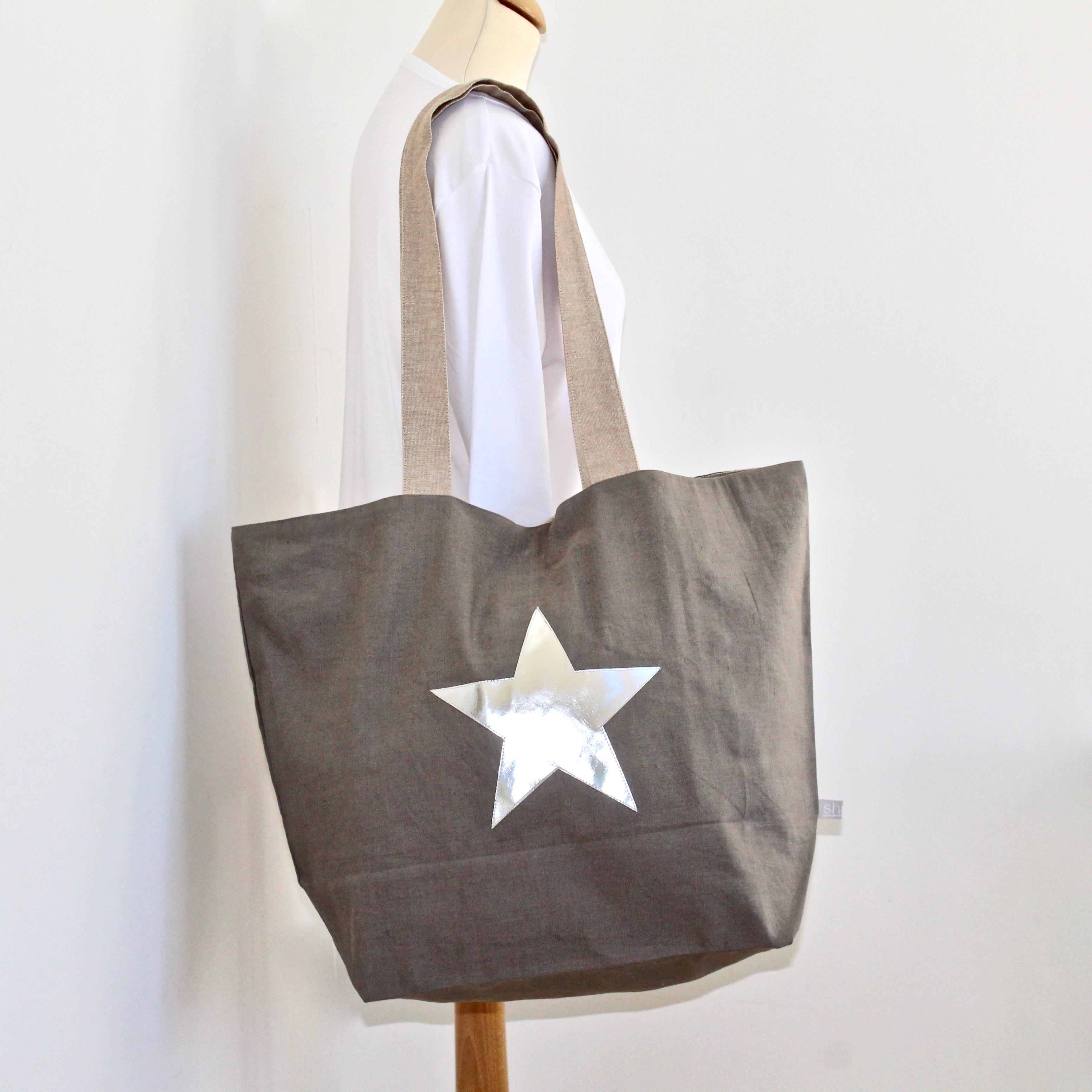 Gorgeous Cotton / Linen Star Shopper