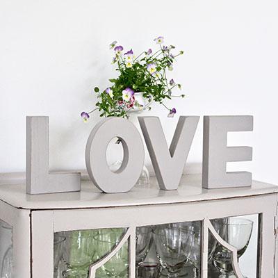 LOVE wooden decorative letters ~ large