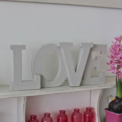 Love wooden decoration ~ large