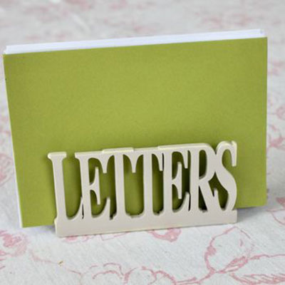 Vintage Painted Letter Rack