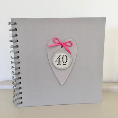 40th Birthday Memories Album / Keepsake Book