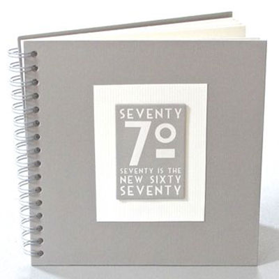 70th Birthday Memories Album / Keepsake Book