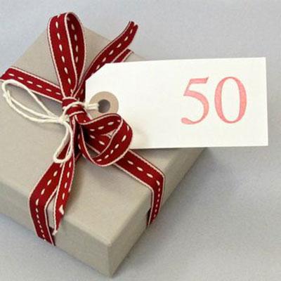 50 and Fabulous Handmade Card