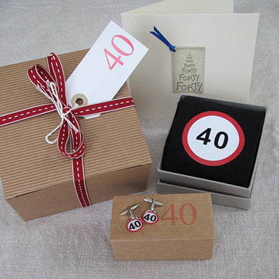 40th Birthday Mens Filled Gift Box
