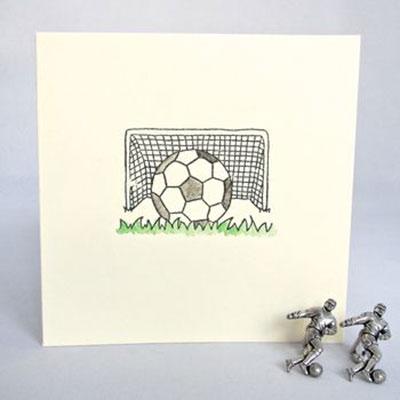 Handmade Football Birthday Card