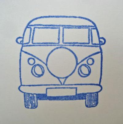 Set of Five Handmade Campervan Gift Tags