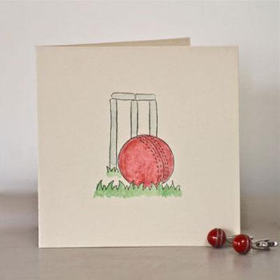 Handmade Cricket Birthday Card