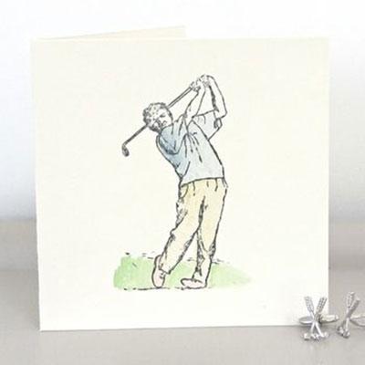 Handmade Golfer Birthday Card