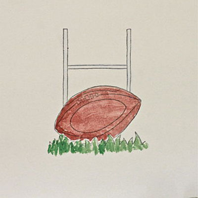 Handmade Rugby Birthday Card