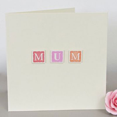 Handmade Personalised Mum Card