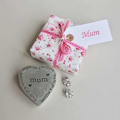 Best Mum Pewter Trinket Box ~ gift wrapped