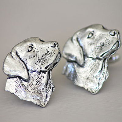 Pewter Labrador Cufflinks