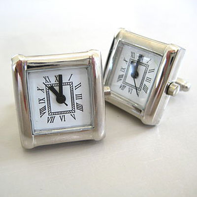 Working Clock Cufflinks