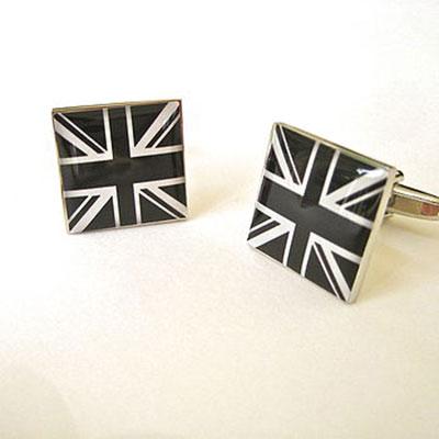 Black & White Union Jack Cufflinks