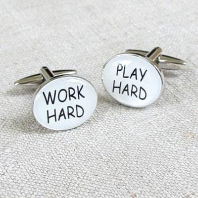 Work Hard, Play Hard Cufflinks