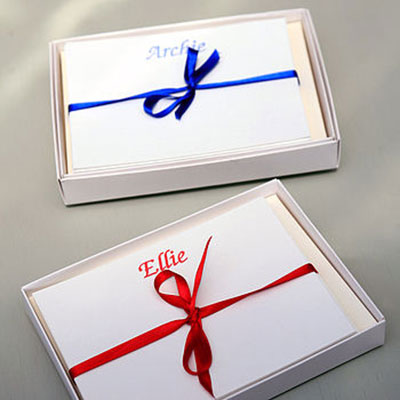 Set of 18 Personalised Correspondence Cards ~ Boxed