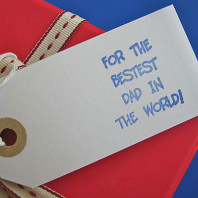 Best Dad in the World Gift Tag