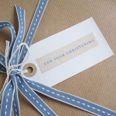 Christening Gift Tag