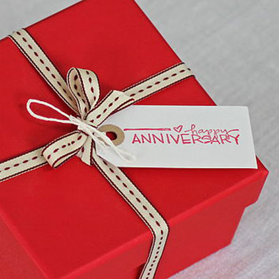 Happy Anniversary Gift Tag