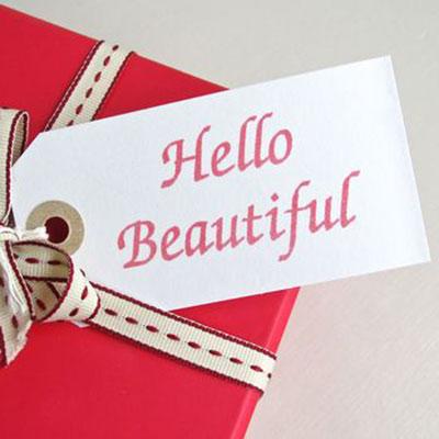 Hello Beautiful Anniversary Gift Tag