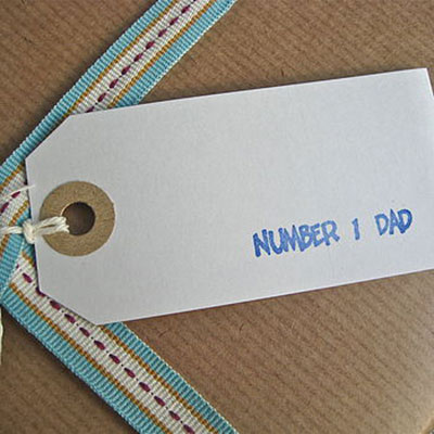 Number One Dad Gift Tag