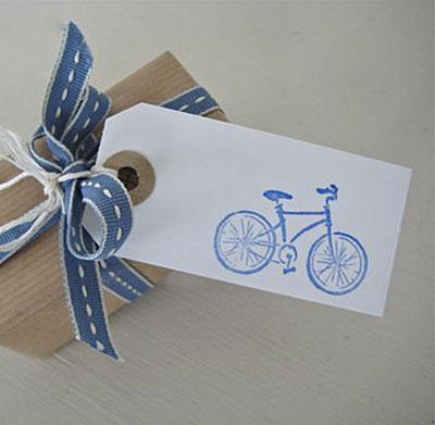 Set of 5 Handmade Bicycle Gift Tags