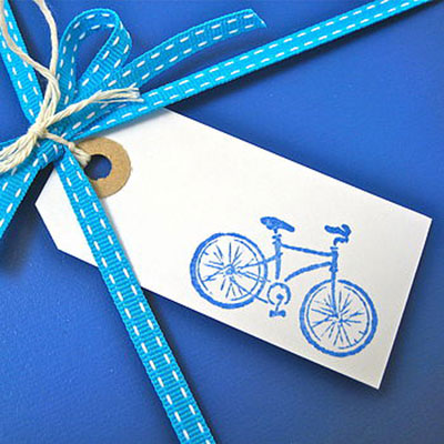 Set of 5 Handmade Bicycle Gift Tags