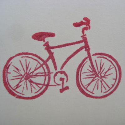 Set of Five Handmade Bicycle Notelets