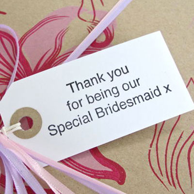 Thank you Bridesmaid Gift Tag