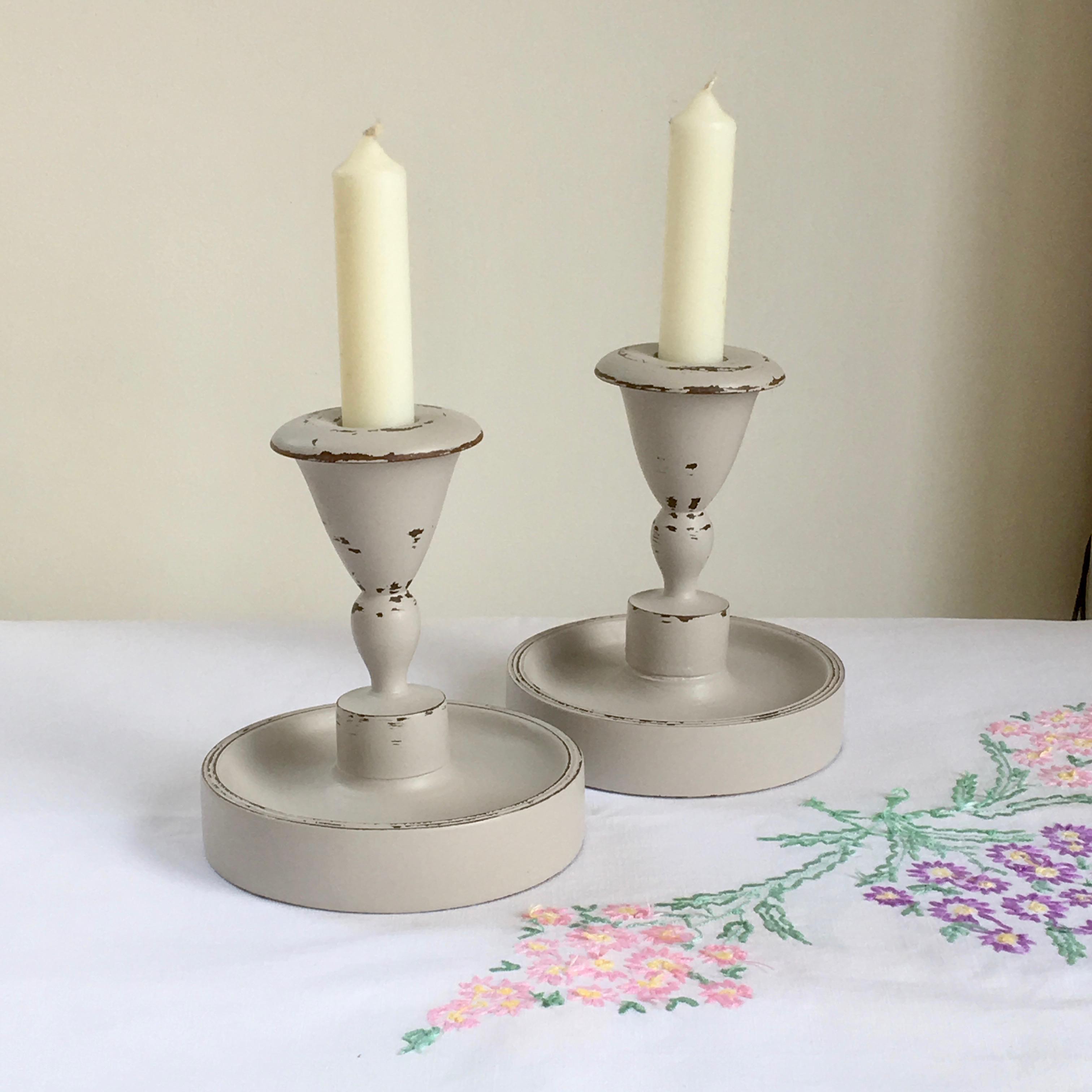 Pair of Antique Art Deco Candlesticks
